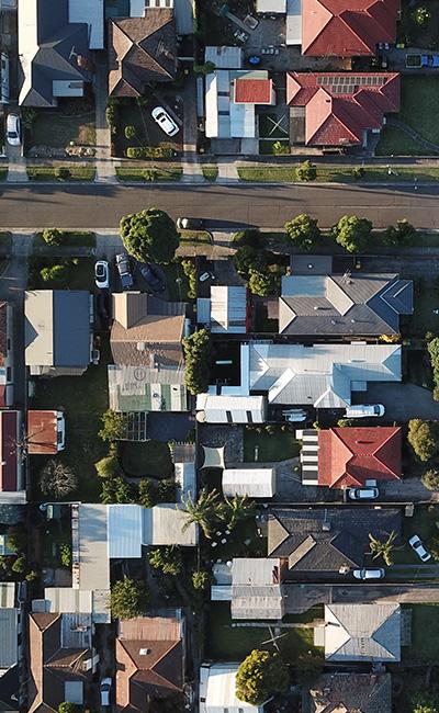 Neighborhood photo from above