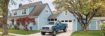 Blue home exterior